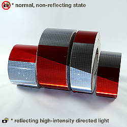 Oralite Gate Arm Microprismatic Retroreflective Conspicuity Tape