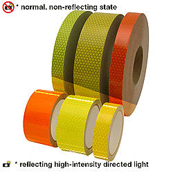 Oralite (Reflexite) V98 Microprismatic Retroreflective Conspicuity Tape [Fluorescent Colors]