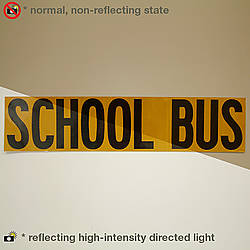 Oralite (Reflexite) V99-SIGN Microprismatic Conspicuity School Bus Signs