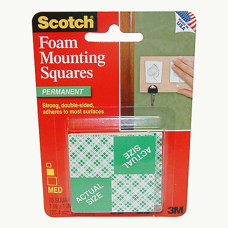 3M Scotch 111 Foam Mounting Squares [Permanent]