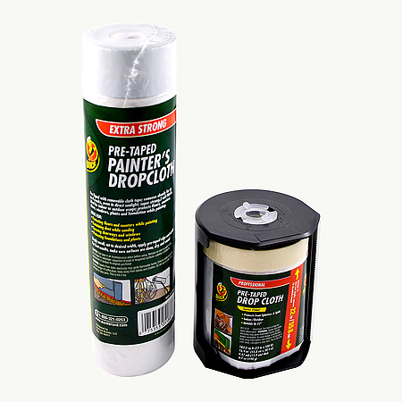 Duck Brand Pre-Taped Dropcloth Pre-Taped Painter's Drop Film