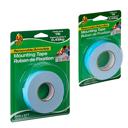Duck Brand Removable Mounting Double-Sided Foam Tape