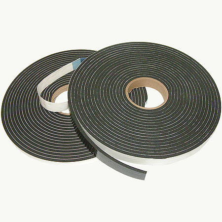JVCC DCBF-02 Double Coated Black PVC Foam Tape [medium density]