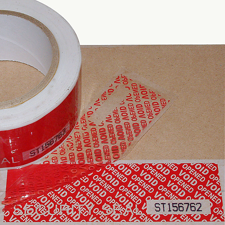 JVCC TEV-SN Tamper Evident Serial Number Carton Sealing Tape [Discontinued]