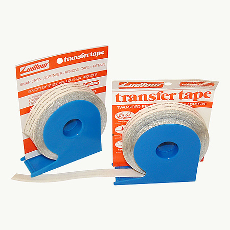 Ludlow Dispenser T-Tak HD Double Coated Tissue Tape [Extended Liner]