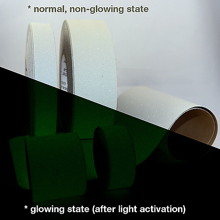 Wooster NiteGlow Flex-Tred Glow-in-the-Dark Anti-Slip Tape and Cleats
