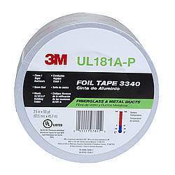 3M Scotch 3340 Foil Tape [UL 181 A & B listed / Linered]