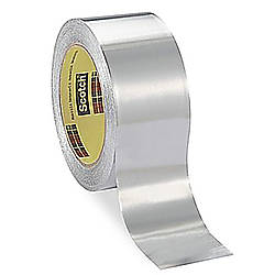 3M Scotch 433 High Temperature Aluminum Foil Tape [Flame Resistant / Linerless]