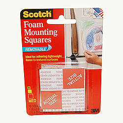 3M Scotch 108 Foam Mounting Squares [Removable]