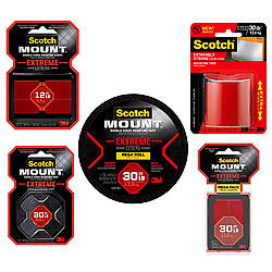 3M Scotch Extreme Scotch-Mount Double-Sided Mounting Tape & Strips