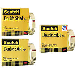 3M 665-C Scotch Permanent Double Sided Tape [Linerless]