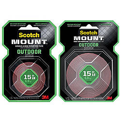 3M Scotch Outdoor Scotch-Mount Double-Sided Mounting Tape