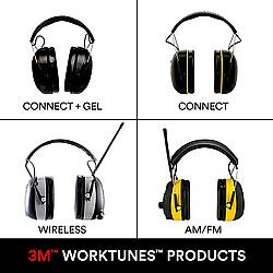 3M WorkTunes Electronic Hearing Protectors