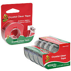 Duck Brand Crystal Clear Gloss-Finish Tape