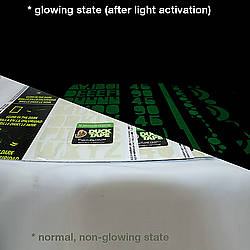 Duck Brand Glow Sheets Glow in the Dark Gaffer Tape Sheet