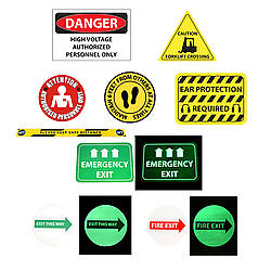 FindTape FM Heavy-Duty PVC Floor Signs & Markers