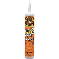 Gorilla 8070002 Paintable White Silicone Sealant