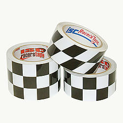 ISC Checkerboard Black & White Checkerboard Tape
