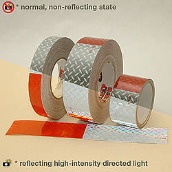 Oralite (Reflexite) V52 Diamond Plate Microprismatic Conspicuity Tape [DOT-C2]