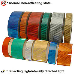 Oralite (Reflexite) V92-DB-COLORS Microprismatic Retroreflective Conspicuity Tape