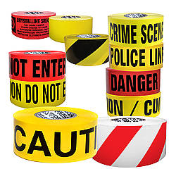 Presco Economy Printed Barricade Tape [2 mil thick]