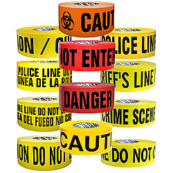 Presco Premium Printed Barricade Tape [3 mil thick]