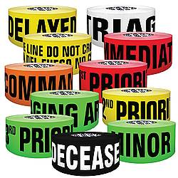 Presco Printed Barricade Triage Tape