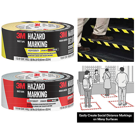 3M 1125 Hazard Marking Duct Tape