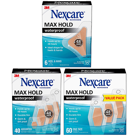 3M Scotch Max Hold Nexcare Waterproof Bandages
