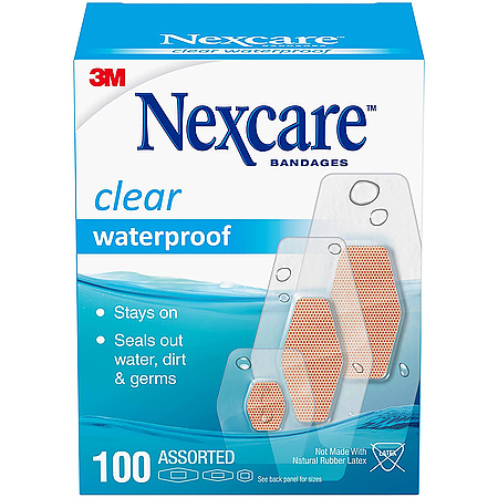 3M Scotch 432 Nexcare Clear Waterproof Bandages