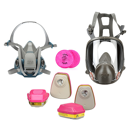 3M 6 Series Reusable Respirators & Cartidges/Filters