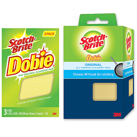 3M Scotch SB-DCP Scotch-Brite Dobie Cleaning Pads