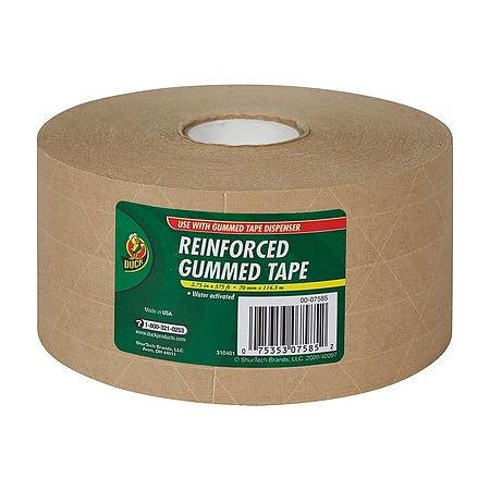 Duck Brand Reinforced Gummed Paper Tape [Water-Activated]