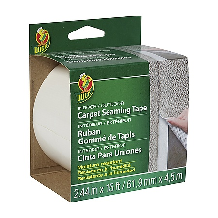 Duck Brand Indoor/Outdoor Seaming Fiberglass Carpet Tape [Single-Sided]