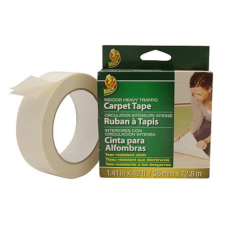 duck brand heavy traffic doublesided carpet tape 141 in x 42 ft