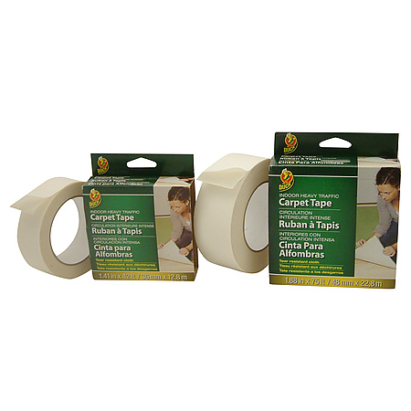 duck brand indoor heavy traffic doublesided carpet tape permanent
