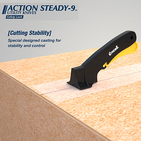 Excell AS-9 Steady Utility Knife [Safety-Lock]