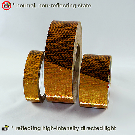 Oralite (Reflexite) V92-DB-SB School Bus Microprismatic Conspicuity Tape