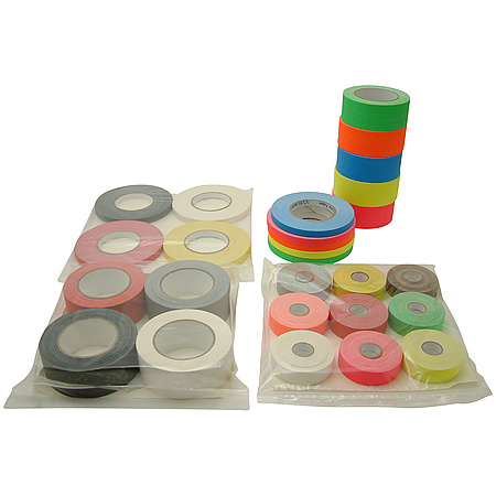 JVCC Gaff-Color-Pack Gaffers Tape Multi-Pack