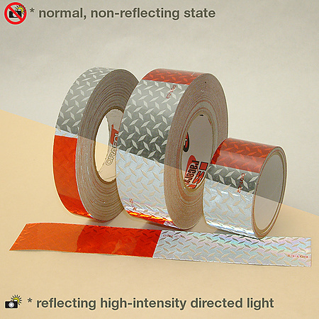 Oralite (Reflexite) V52 Diamond Steel Plate Microprismatic Conspicuity Tape [DOT-C2 5 yr.]